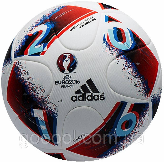 - Футбольный мяч ADIDAS  EURO 2016 Glider р.5, Adidas