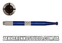Ручка для мануального татуажа (синя)