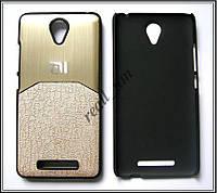 Золотой чехол-накладка, бампер для Xiaomi Redmi Note 2, фото 1