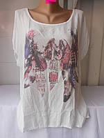 Блузка женская Стразы большой размер