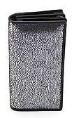 Женский кошелек с очень мягкой и прочной кожи SWAN серебристого цвета art. CH 205-2