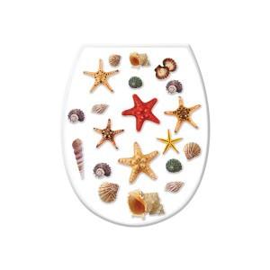 """Крышка на унитаз с рисунком """"Морские звезды"""""""