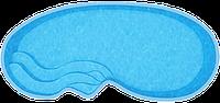 Композитные бассейны Венеция Размеры бассейна: 7.50x3.50x1.18-1.72м
