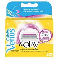 Gillette Venus Olay женские запасные кассеты для бритья 4 шт