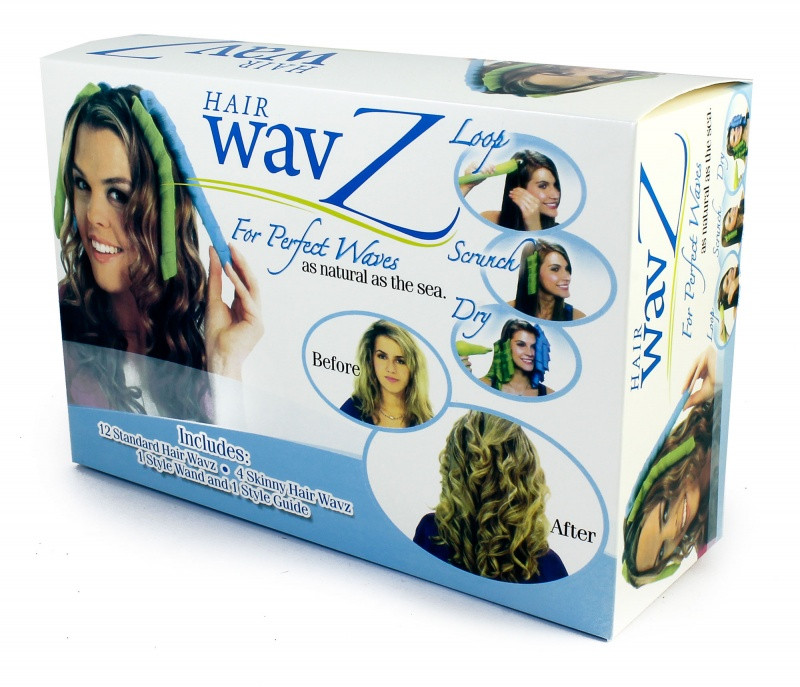 Спиральные бигуди Hair Wavz Хейр Вейвз для длинных волос 50 см 18 шт
