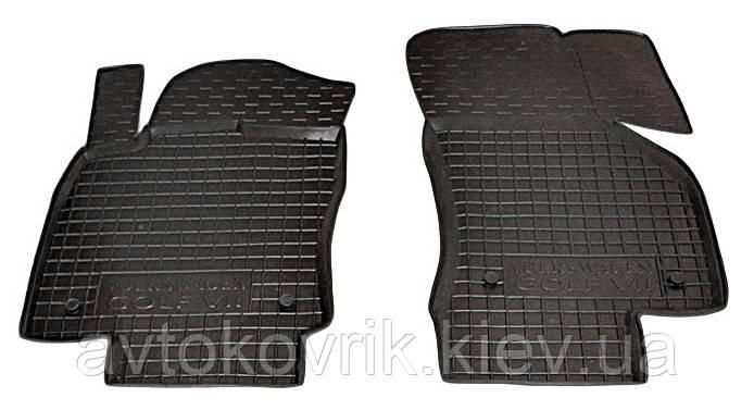 Полиуретановые передние коврики в салон Volkswagen Golf VII 2013- (AVTO-GUMM)