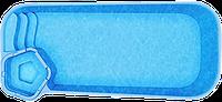 Композитные бассейны Рио Размеры бассейна: 8.50x3.50x1.00-1.65м