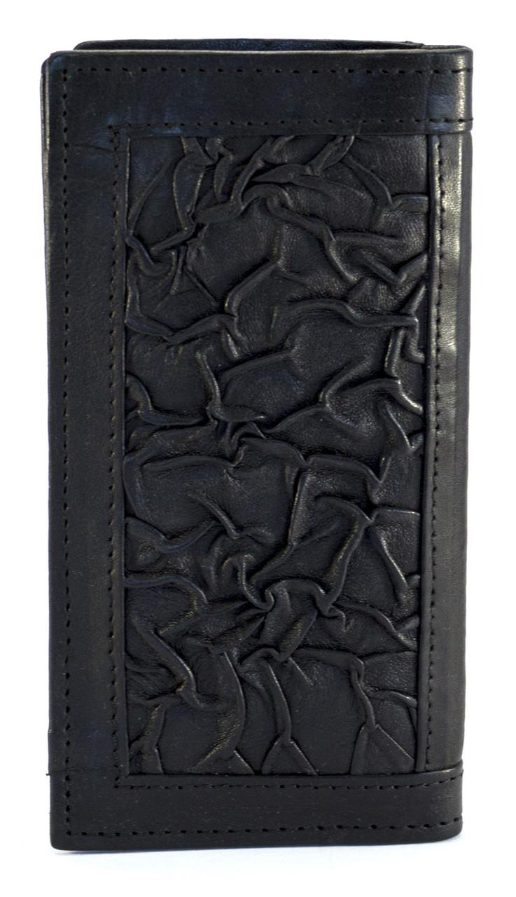 Кожаный, практичный, дешевый и удобный женский кошелек SWAN art. Б/Н черный сжатый