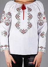 Вышитая блуза крестиком золотистыми нитками, фото 2