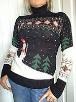 "Женский свитер ""Снеговик2""  Dress code 4052 Одесса"