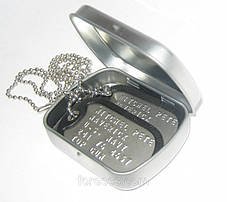 Армейские жетоны Dog Tags на заказ / Изготовление армейских жетонов с гравировкой / Именной армейский жетон, фото 3
