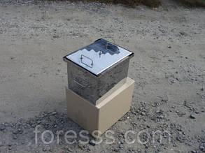 Коптильня с гидрозатвором для горячего копчения (400х280х280), фото 2