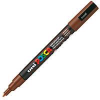 STOCK! Маркер uni POSCA 0.9-1.3мм, коричневый