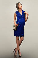 Платье для беременных Синее с рюшами-С
