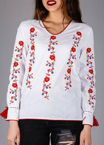 Вышитая сорочка с цветами, фото 2