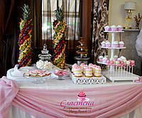 Свадебный Кенди бар (Candy Bar) в  розовом  цвете, фото 1