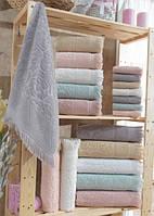 Жаккардовые махровые полотенца с бахромой Arya Damask Ayca