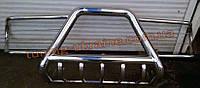 Защита переднего бампера кенгурятник  из нерж. стали (c защитой картера и защитой фар) D60 на Lada Niva 2121