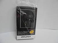 Наушники Awei ES-Q3, гарнитура, наушники, Авэй, аудиотехника
