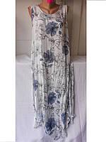 Платье женское Цветы большой размер