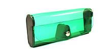 Зеленый силиконовый футляр для хранения очков