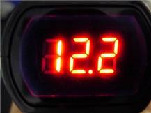 Вольтметр. Измеритель напряжения автомобильный LCD, фото 3