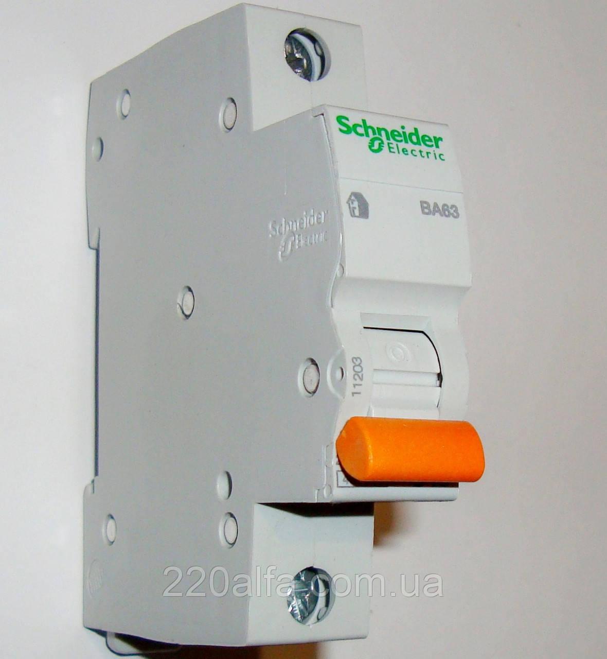 Автоматический выключатель ВА63, 1P 25A Schneider Electric