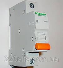 Автоматический выключатель ВА63, 1P 6A Schneider Electric