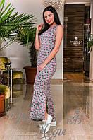 Легкое повседневное платье в пол с 4-мю разрезами. 3 цвета.