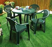 Комплект садовый стол Tondo+4 кресла Altea зеленый