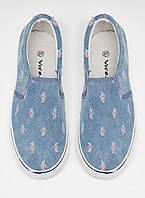 Женские стильные польские синие мокасины, слипоны джинс Vices
