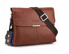 Кожаная мужская сумка POLO, фото 3