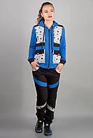 Спортивный костюм Анжелика - электрик звезды: 46,48,50,52,54