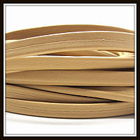 Шнур кожаный 10*5 мм, цвет темно-бежевый (20 см)