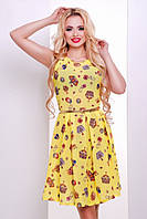 Желтое летнее платье Изольда 44-50 размеры