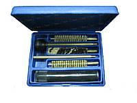 Набор д/чистки MEGAline 4,5 мм пистолет,пласт. короб, латуный шомпол