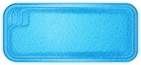 Бассейн Виктория, Размеры бассейна: 7,25x3,30x1,20-1,70м