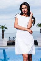 Платье прошва белое (мелкая перфорация)