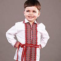 """Вышиванка для мальчиков с воротником """"Эдельвика"""" на замочек 80см-104 см"""