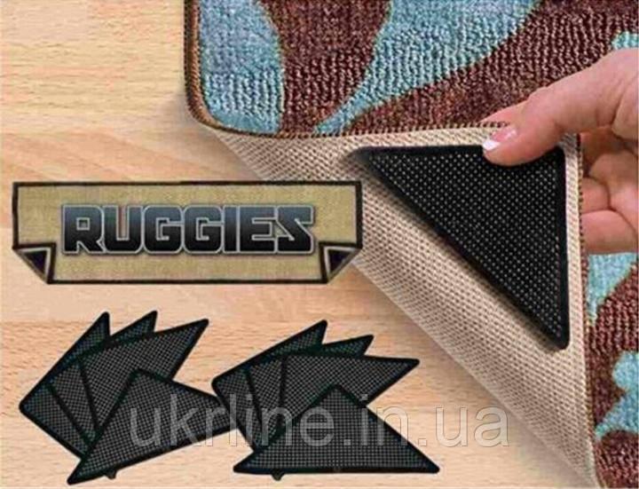 Держатели-липучки для ковров Ruggies, держатель для ковров Ruggies, комплект липучек для ковриков - Интернет-магазин UkrLine в Киеве