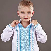 """Вышиванка для мальчиков с воротником """"Эдельвика-2""""  80см-152 см"""