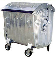 Контейнер для сміття 1100 л.  (оцинкований), фото 1