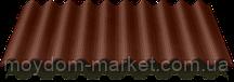 ОНДУЛІН коричневий 0,95х2м хвилястий бітумний лист Onduline