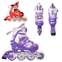 Детские раздвижные ролики (A7085-S) с колесами 64 мм