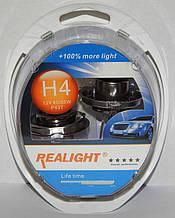 "Автомобильные галогенные лампы ""REALIGHT"" (H4)(+100%)(12V)(60/55W)"
