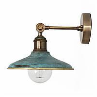 Настенно-потолочный светильник купол Loft Steampunk [ on Wall Ceiling Green Patina ]
