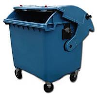 Контейнер для сміття 1100 л.  (пластиковий), фото 1