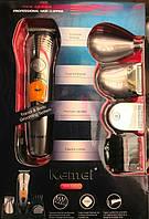Бритва-триммер Kemei KM-580A 4 в 1 (набор для стрижки волос и бороды) аккумулятор