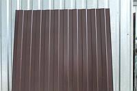 Некондиция профнастил С-10 коричневый (8017)