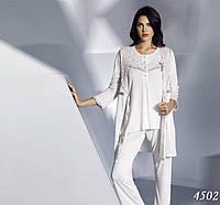 Комплект халат туника брюки бамбуковый Mariposa Турция